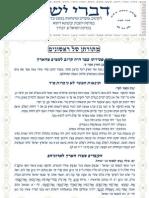 Divrei Yosher Haazinou 2009