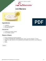 Vovó Palmirinha – Frapê de Coco com Banana