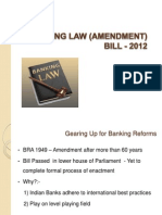Banking Law (Amendment) Bill - 2012