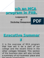 02-Launch an MCA Program in FIIB.