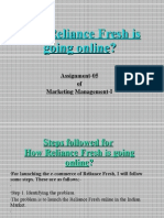 05-Steps Followed for How Reliance Fresh is Going Online.