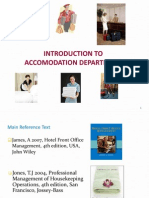 1 Introduction to Accomodation Department