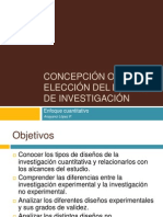 CONCEPCIÓN O ELECCIÓN DEL DISEÑO DE INVESTIGACIÓN (1)