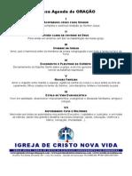 NOSSA AGENDA DE ORAÇÃO