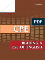 Cpe Reading UCPE Reading and USe of English  Certificate