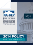 NAHREP 2014 Policy Position Statement