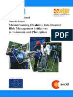 Lessons Learned Mainstreaming Disability into DRM Indonesia-Philippines