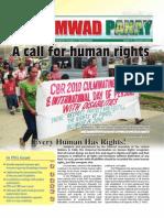 UMWAD Project Newsletter January 2011