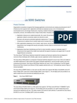 Datasheet Nexus 9300 | Network Switch | Ethernet