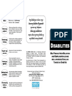 Diabetes and Disabilities (Bisaya)
