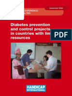 Diabetes Prevention and Control Projects in Countries with Limited Resources