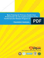 Training Manual Basic Training for Primary Health Care Professionals for the Implementation of the Cardiovascular Diseases