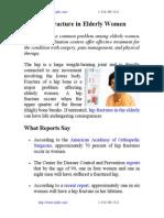 Hip Fracture in Elderly Women