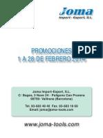 Folleto JOMA Promociones Febrero 2014