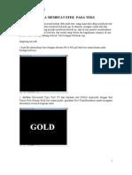Tutorial Photoshop Cara Membuat Efek Pada Teks