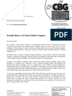 2009-06-16 - Letter of complaint against Bayer