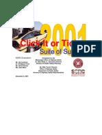 2001 Seatbelt Final Report