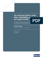 Ethical Corporation report summary - Water Foot Printing