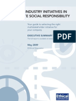 Ethical Corporation report summary - Industry Initiatives in CSR