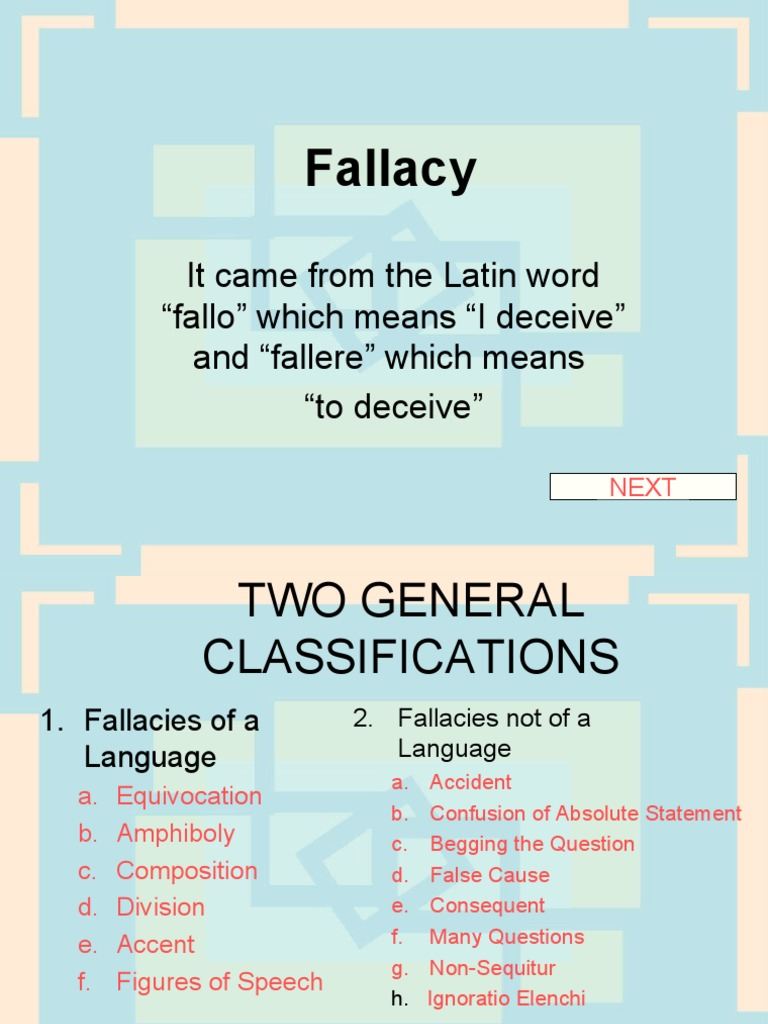 Fallacy And Its Kinds Fallacy Rhetorical Techniques