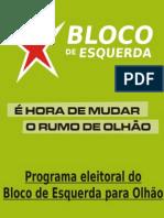 programa do bloco Olhão