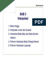 Bab 3 Interpolasi