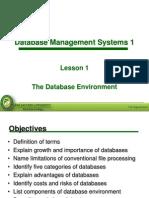 Lesson 1 - The Database Environment of the bolsheviks
