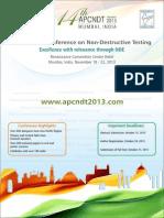 APCNDT 2013 Brochure