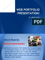 cim u301 - 1 1  1 2 - web portfolio - using preproduction documents in the creative media industry - presentation