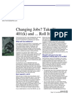 changing jobs take your 401k and roll it