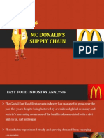 supply chain management of mc donalds