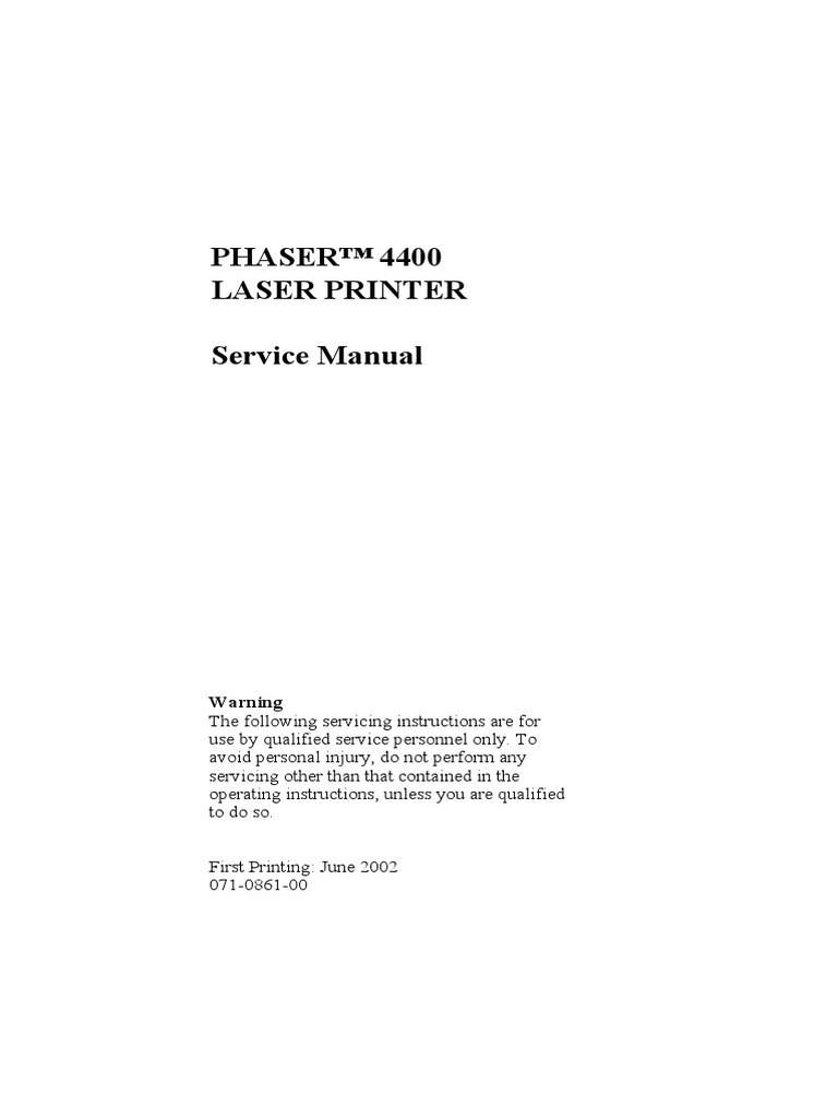 Xerox Phaser 4400 1 Introduction | Electromagnetic Interference | Printed  Circuit Board