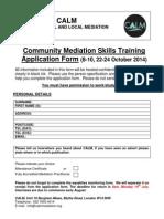 CALM CMS Application Pack Oct 2014