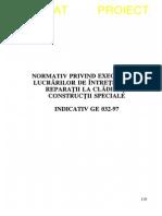 GE 032 - 1997 - Lucr de Intretinere Si Rep La Clad Si Constr Speciale