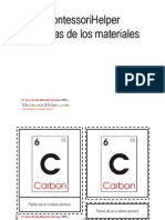 Montessori Science Material Spanish