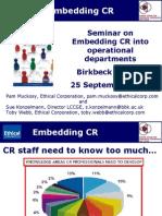 Ethical Corp Embedding CSR Debate 25 09 2009
