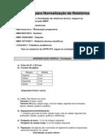 Orientação para Normalização de Relatórios DNIT