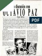 Roger Bartra, Discusión con Octavio Paz