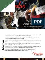 Manual Fender ElectricGuitars