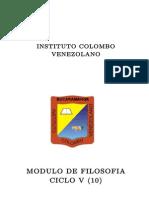 Modulo Filosofia Ciclo V
