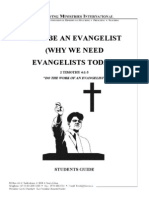 Why Be an Evangelist or Why We Need the Evangelist - Study Guide