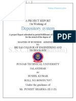 project on working of depostry system