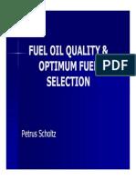 Fuel Quality and Optimum Fuel Selection by Petrus Scholtz