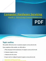 CHS Module 4 - Maintaining Computer Systems and Networks