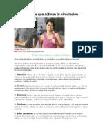 5 de ejercicios que activan tu circulación
