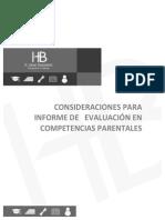 Consideraciones Para Informe de Competencias Parentales