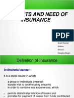 Concept and Need of Insurance (2)