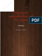 Polynomial Approximation of 1D signal