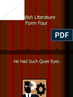 English Literature Form 4