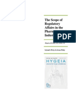 The Scope of Regulatory Affairs